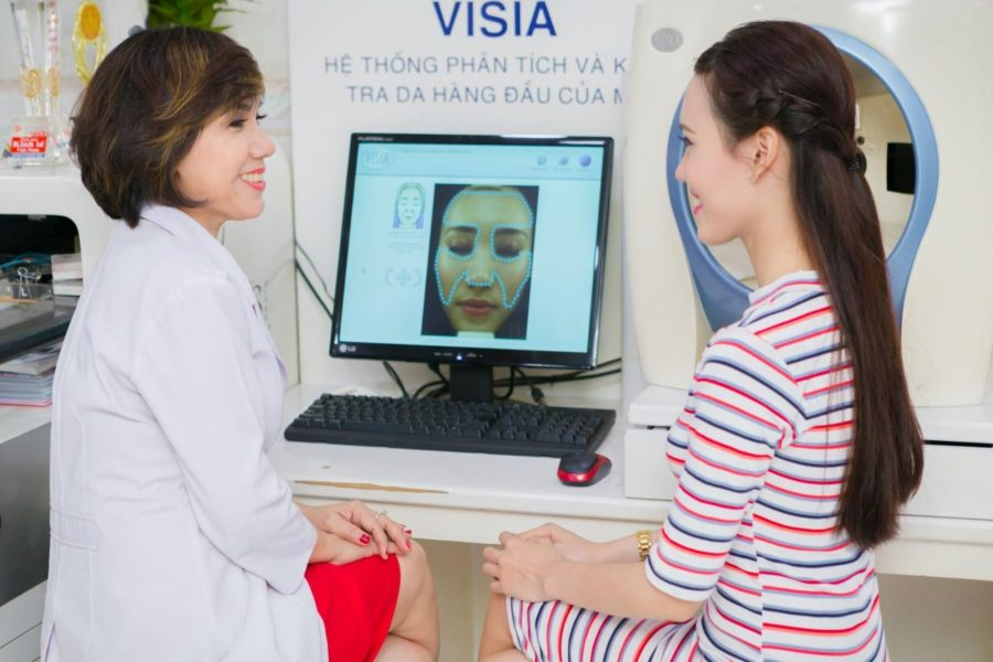 Cách nhận biết da qua máy soi Visia