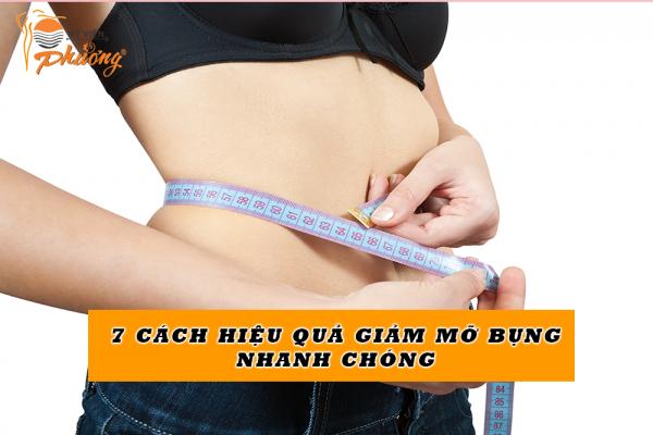 7 cách giảm mỡ bụng hiệu quả