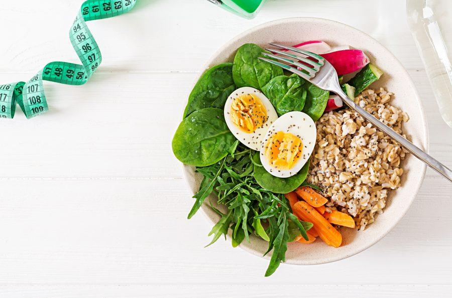 Chế độ ăn uống lành mạnh giúp giamr mỡ bụng hiệu quả